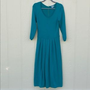ASOS blue knit skater dress size 6